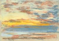 Coastline and Sky, c. 1890 Fine Art Print