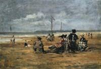 On the Beach, 1880 Fine Art Print