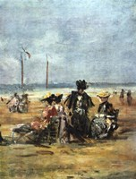 On the Beach (detail), 1880 Fine Art Print