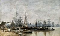 The Harbour of Bordeaux, 1874 Fine Art Print