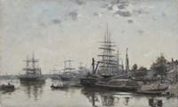 View of Bordeaux, from the Quai des Chartrons, 1874 Fine Art Print
