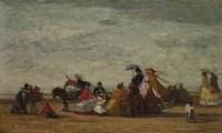 Beach Scene, c. 1865-1867 Fine Art Print