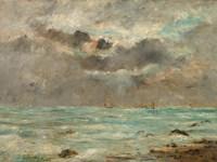 The Coast at Trouville, c. 1865-1900 Fine Art Print