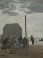The Beach at Deauville, 1864 Fine Art Print