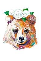 Bear with Flower Crown Fine Art Print