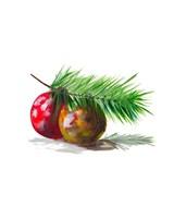 Christmas Bulb on Pine Fine Art Print