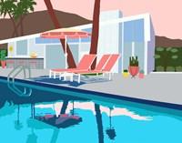 Pool Lounge I Fine Art Print