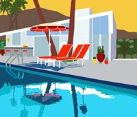 Pool Lounge II Fine Art Print