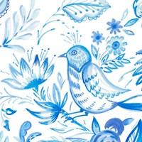 Birds in Blue II Framed Print