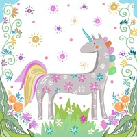 Unicorn Forest II Fine Art Print