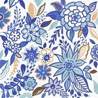 Botanical Azul I Framed Print