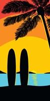 Sunset Surf Panel Fine Art Print