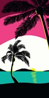 Pink Sunset Surf Panel Fine Art Print