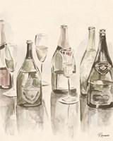 Sepia Champagne Reflections I Framed Print