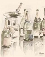 Sepia Champagne Reflections II Fine Art Print