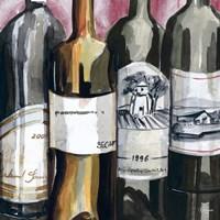 Vintage Wines I Framed Print