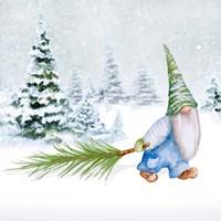 Gnomes on Winter Holiday I Fine Art Print