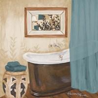 Blue Zen Bath II Framed Print
