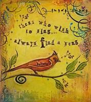 Wish to Sing Fine Art Print