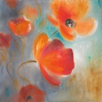 Scarlet Poppies in Bloom I Framed Print