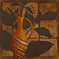 Little Striped Vase I Framed Print