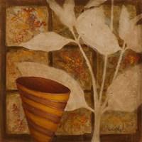 Little Striped Vase II Framed Print