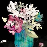 Flower Burst on Black II Framed Print