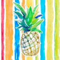 Vibrant Pineapple II Framed Print