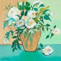 Vase of White Roses Fine Art Print
