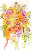Bursting Wildflowers I Fine Art Print