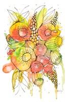 Bursting Wildflowers II Framed Print