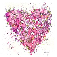 Heart of Flowers Fine Art Print