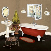 Red Master Bath I Framed Print