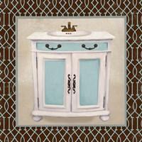 Chic Lattice Bath II Framed Print