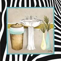 Zebra Bath II Framed Print