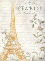 Golden Paris I Fine Art Print