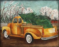Yellow Truck and Tree III Framed Print