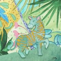 Playful Zebra Framed Print