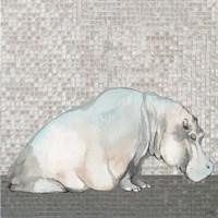Introspective Hippo Framed Print