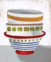Stacked Bowls II Framed Print