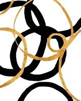 Black and Gold Stroke II Fine Art Print