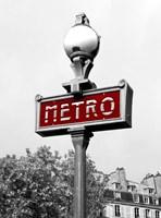 Metro in Paris (Red) Fine Art Print