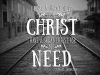 Need Christ Fine Art Print