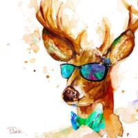 Cool Deer Framed Print