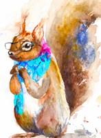 Hipster Squirrel Fine Art Print