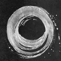 Silver Circle on Black Fine Art Print