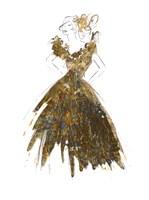 Fashion in Gold I Fine Art Print