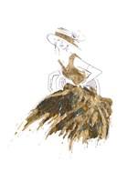 Fashion in Gold II Fine Art Print