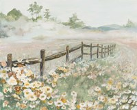 Fence with Flowers Fine Art Print