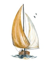 Gold Sail I Fine Art Print